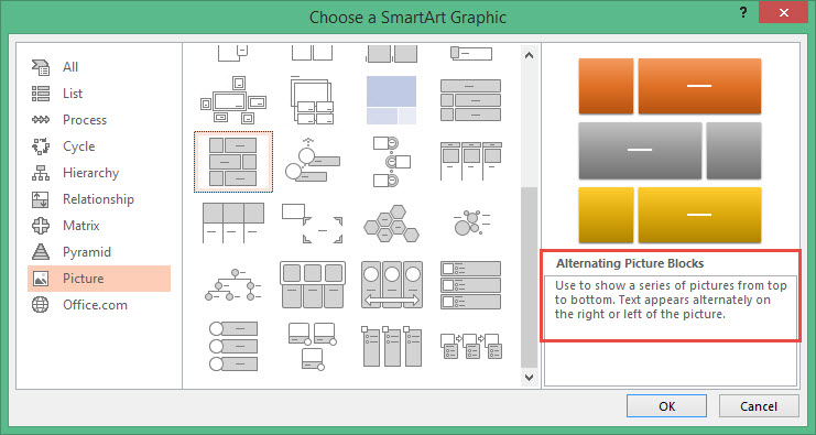 SmartArt Layouts